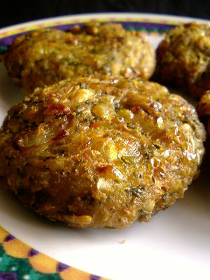Corn and Mint Leaves Fritters