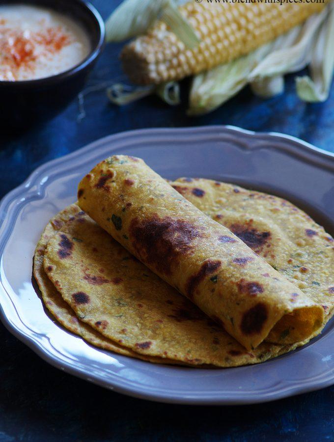 Sweet Corn Paratha Recipe – How to Make Sweet Corn Roti Recipe