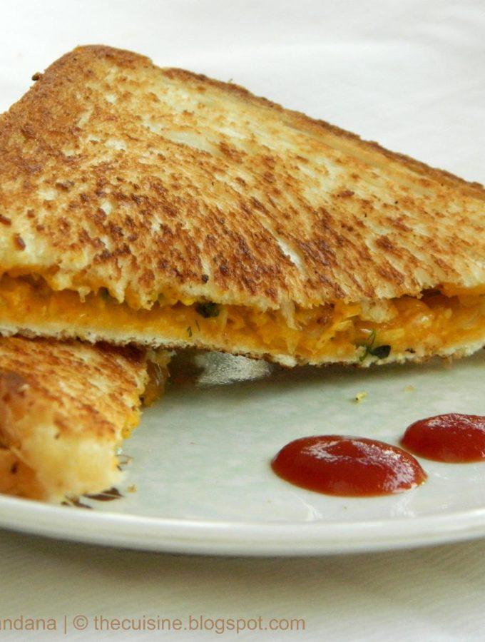 Sweet Corn Curry Toast Recipe