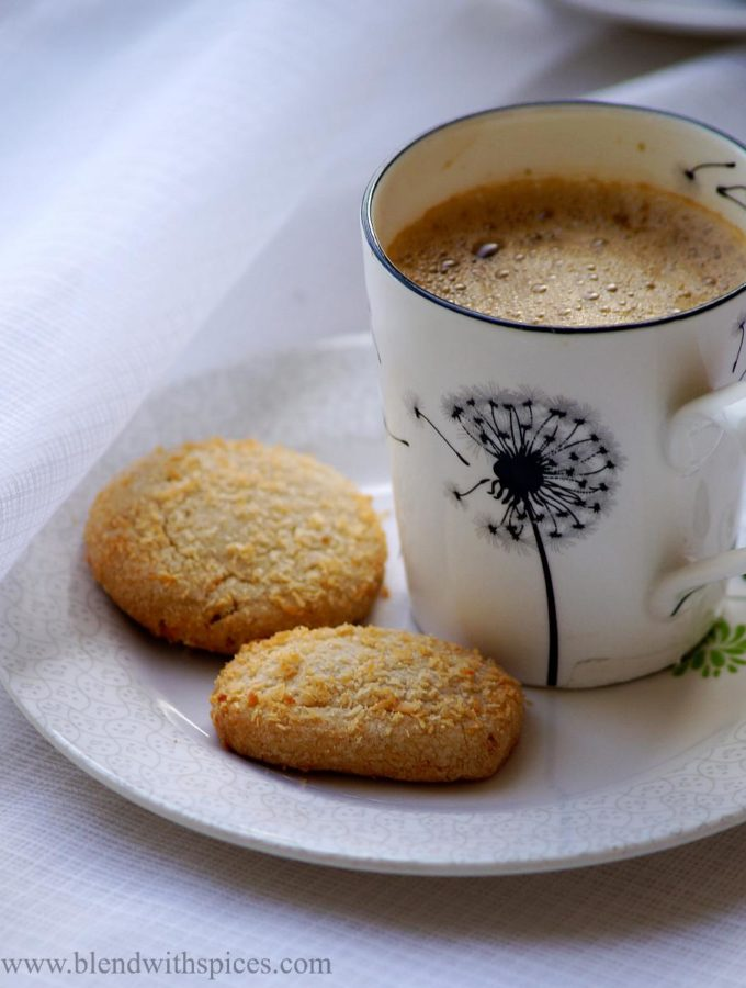 Eggless Wheat Coconut Cookies Recipe – Wheat Coconut Biscuits Recipe – Christmas Cookies Recipes