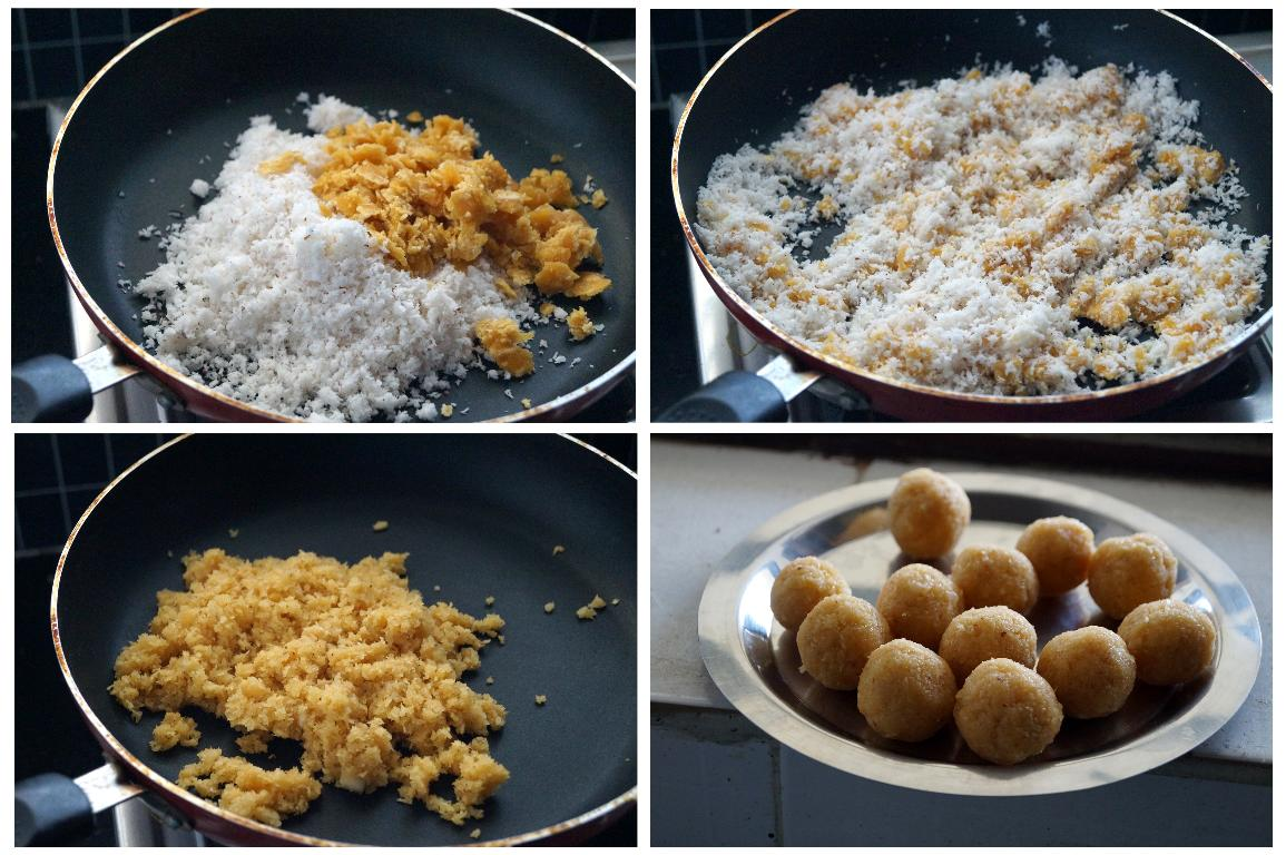 how to make andhra kova kajjikayalu at home, kova laddu recipe with step by step photos
