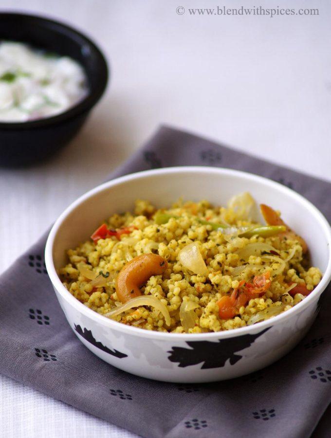 Pudina Millet Rice Recipe – Pudina Korra Annam Recipe – Indian Foxtail Millet Recipes