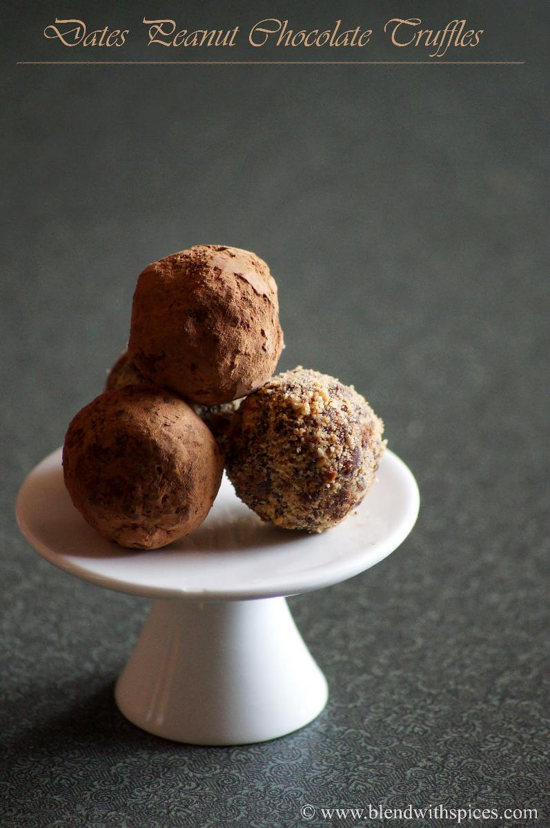 how to make healthy chocolate truffles recipe, easy dates chocolate truffles recipe