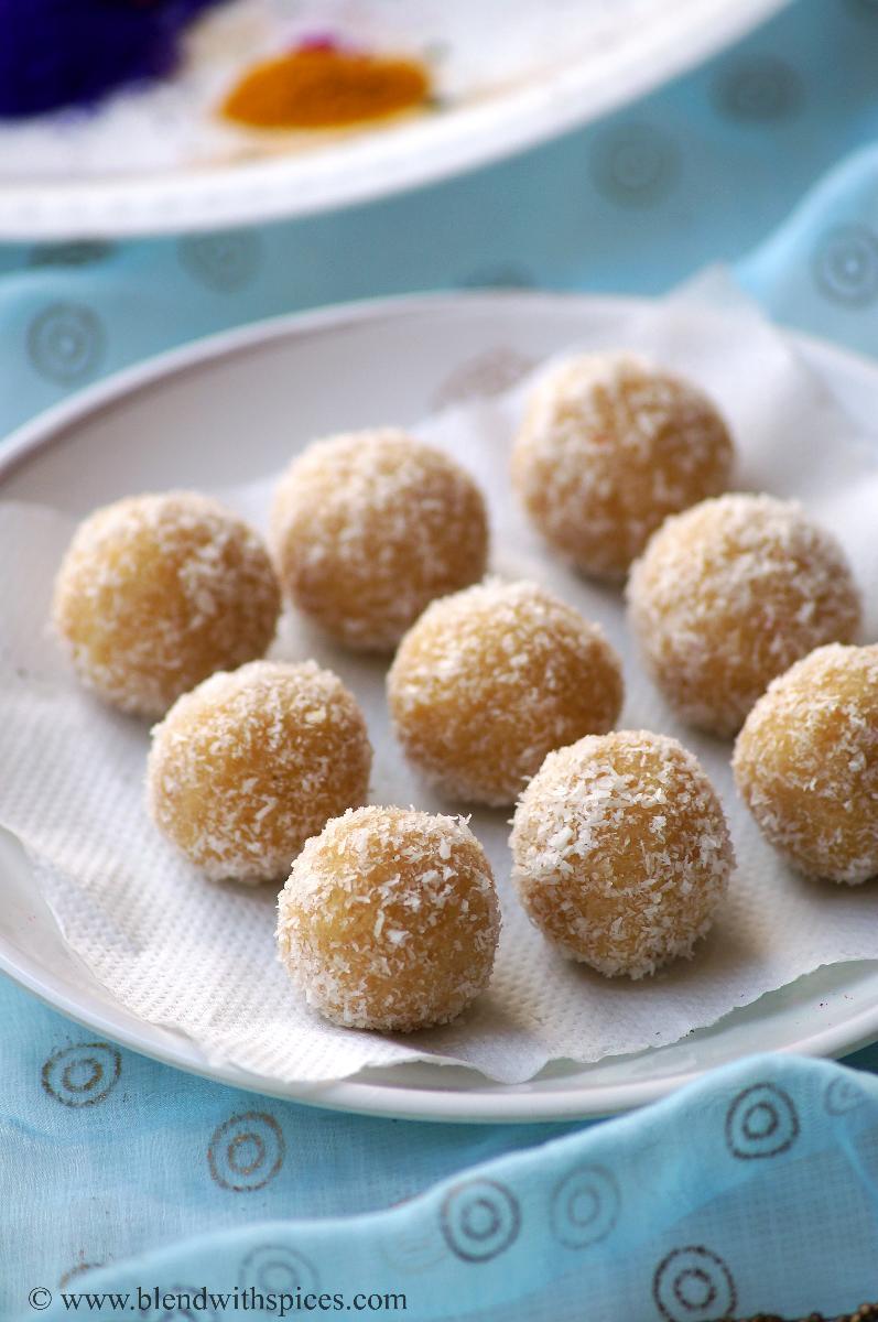 how to make indian khoya jaggery laddu recipe