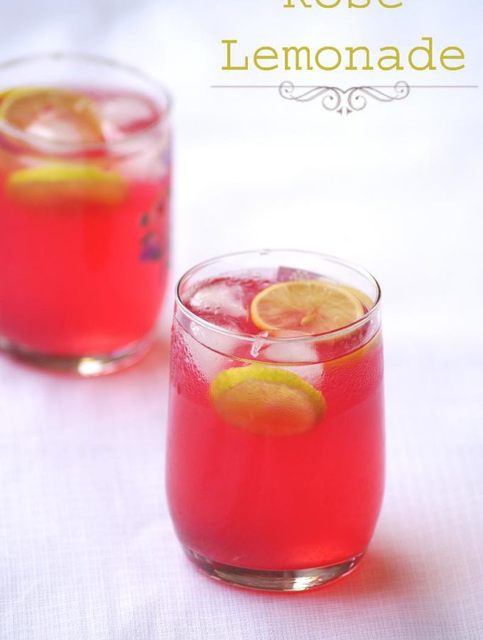 Rooh Afza Lemon Sharbat Recipe – Indian Rose Lemonade Recipe – Summer Drinks