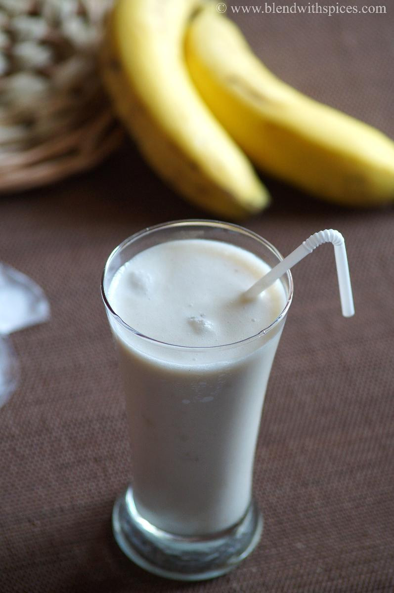 banana lassi, how to make banana lassi recipe, lassi recipes