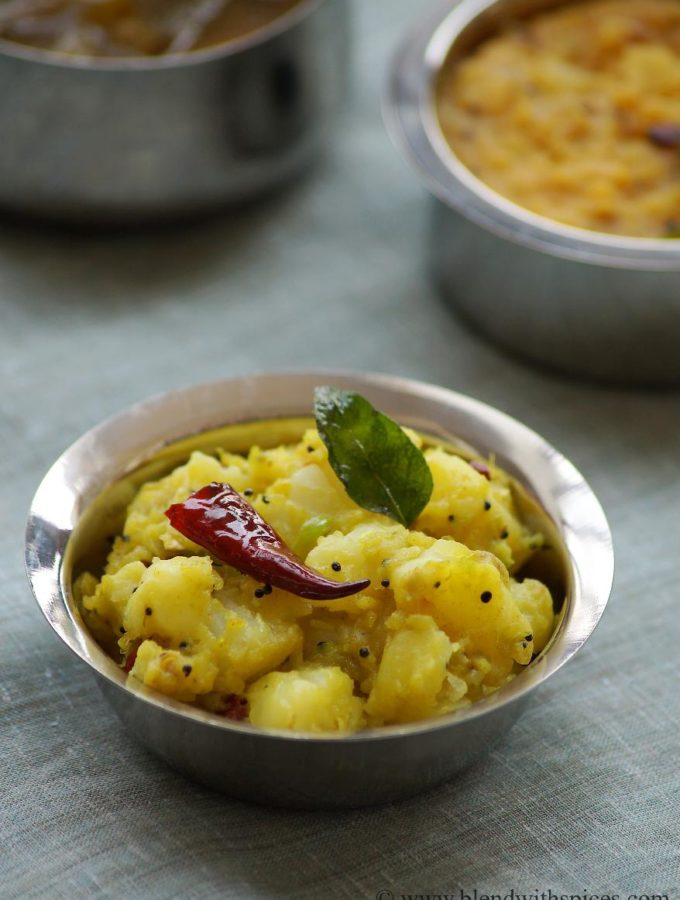 Aloo Allam Pachimirchi Koora Recipe – Potato Curry with Ginger & Green Chillies