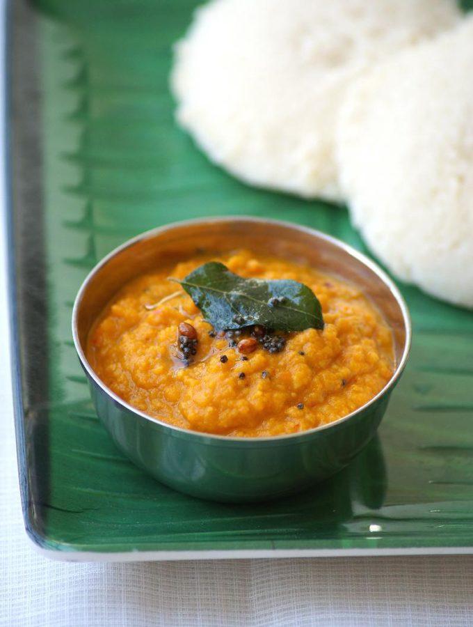 Carrot Chutney Recipe – Carrot Onion Chutney Recipe for Idli Dosa – South Indian Chutney Recipes
