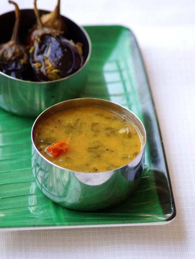 Palakura Sambar Recipe – Spinach Sambar Recipe – How to make Keerai Sambar