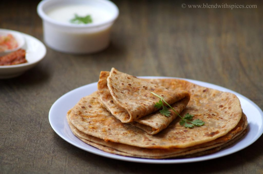 carrot paratha recipe, how to make carrot paratha, recipe for carrot paratha, indian paratha reicpes, paratha recipe step by step