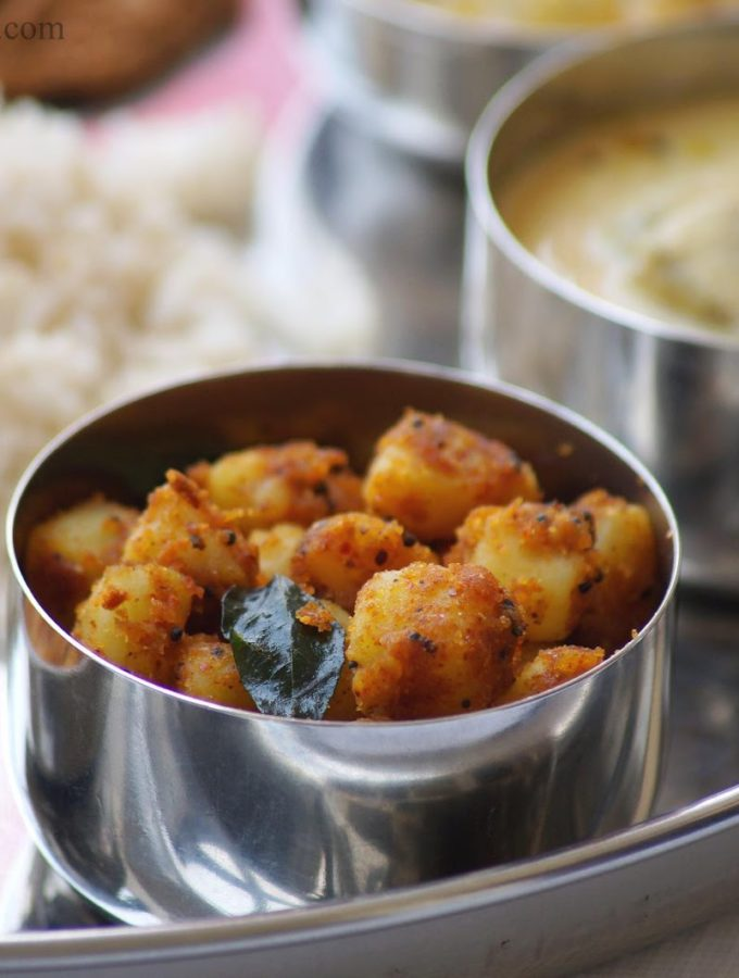 Chilakada Dumpa Podi Koora Recipe – Andhra Style Sweet Potato Curry with Curry Powder