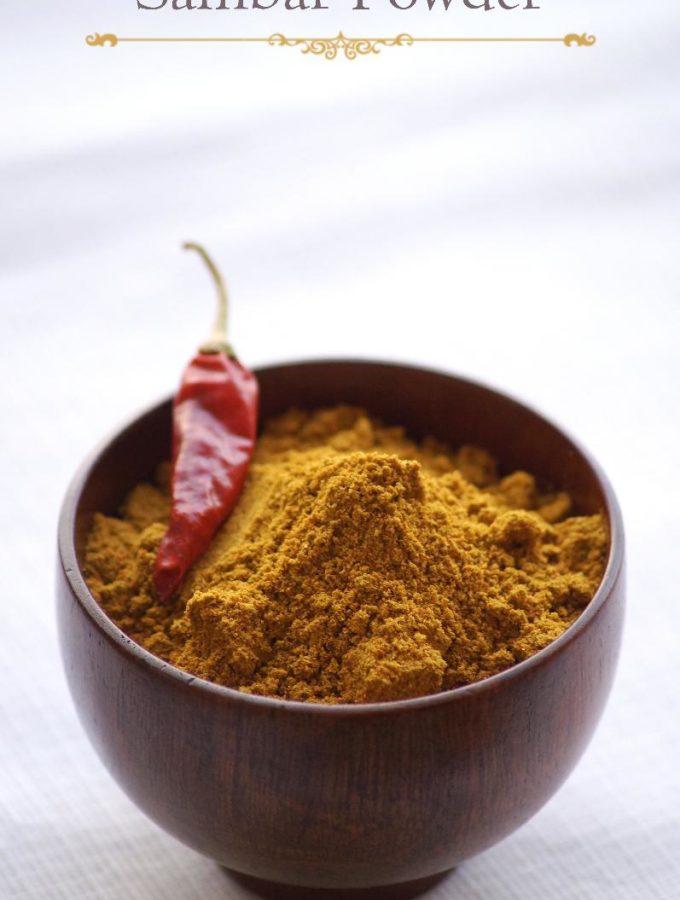 Tamil Sambar Powder Recipe – Homemade Sambar Powder Recipe – Sambar Masala Recipe