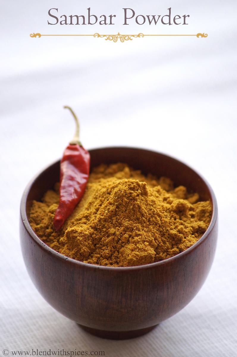Tamil Sambar Powder Recipe - Homemade Sambar Powder Recipe - Sambar Masala Recipe
