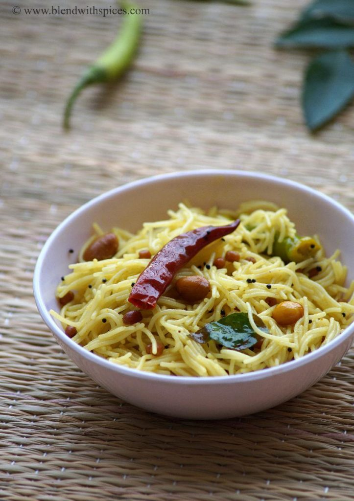 how to make semiya pulihora, recipe for vermicelli pulihora, semiya recipes