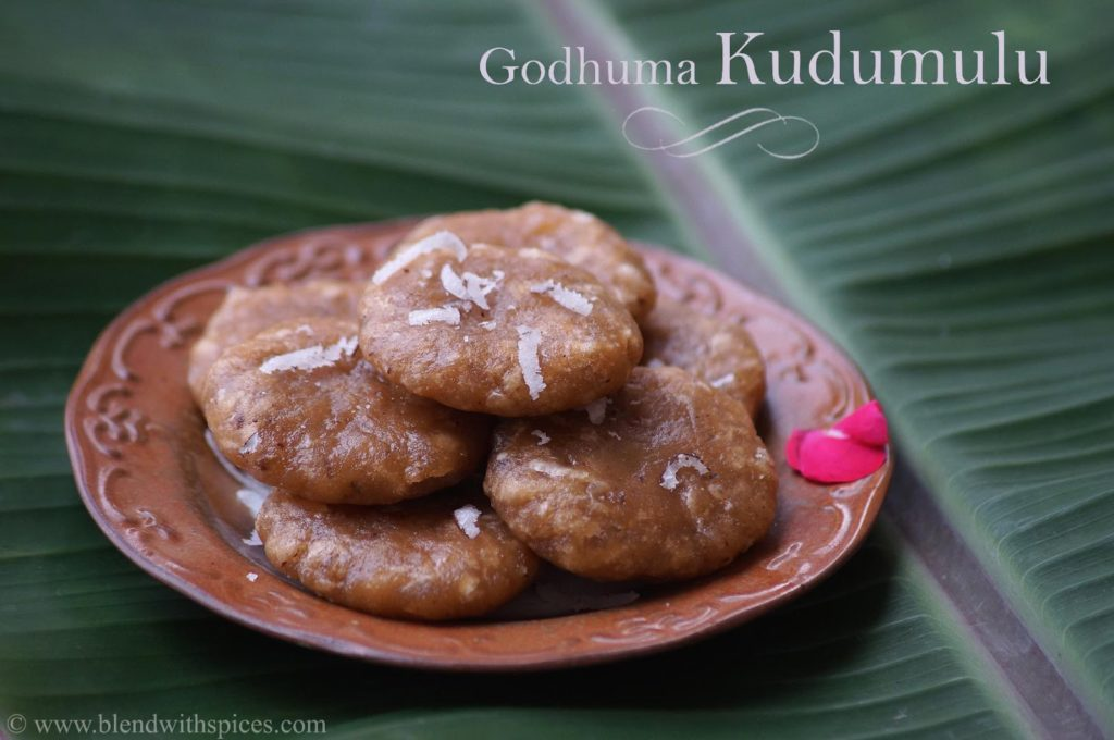 how to make kudumulu with wheat flour, Ganesh chaturthi prasadam recipes, sweet godhuma kudumulu recipe