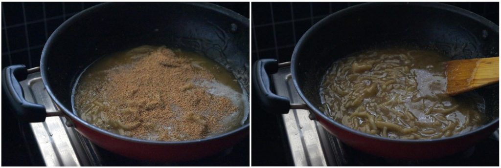 bellam thalikala payasam recipe, how to make thalikalu with jaggery
