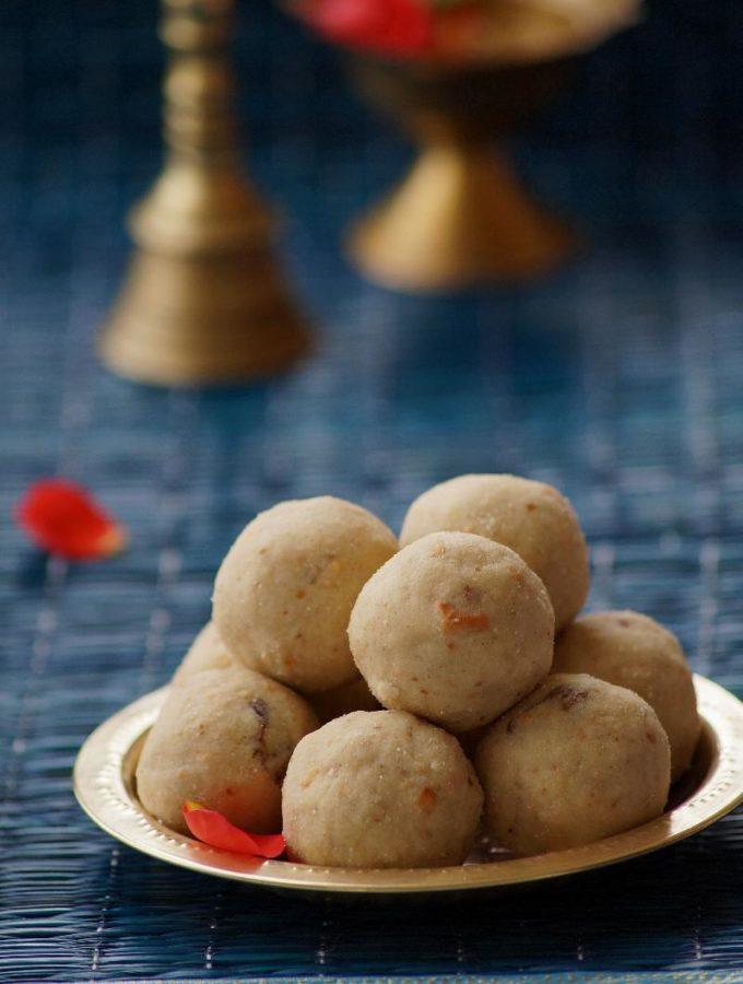 Poha Peanut Laddo Recipe – Atukula Palli Ladoo- Aval Laddu – Easy Gokulashtami Naivedyam Recipes