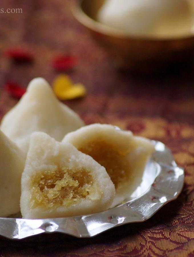Rava Modak Recipe – Suji Manda Pitha Recipe – Rava Modakam – Step by Step Recipe – Ganesh Chaturthi Recipes