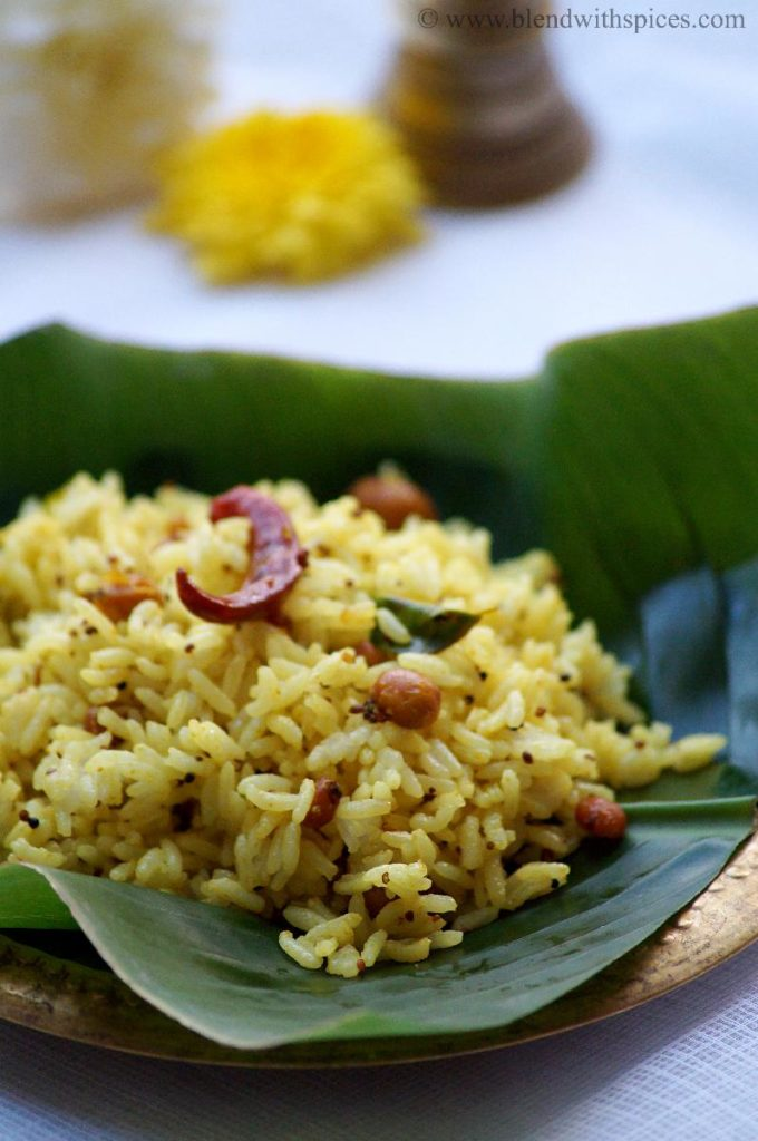 pulihora recipes, how to make ava pettina pulihora, naivedyam recipes