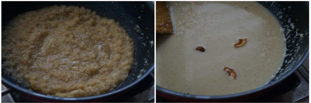 gothumai rava coconut payasam, how to make godhuma rava coconut payasam recipe