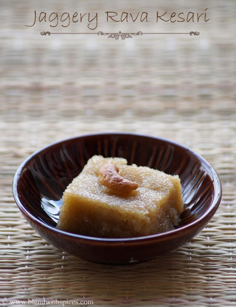 bellam kesari recipe, rava kesari with jaggery, navarathri naivedyam recipes