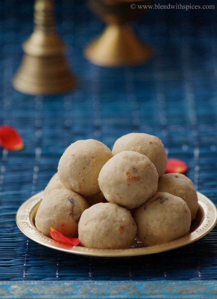 peanut poha laddu, laddu recipes, aval recipes, recipes for navarathri