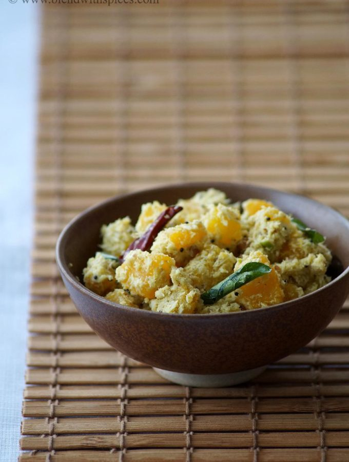 Mathanga Thoran Recipe – Kerala Style Pumpkin Stir Fry – Onam Sadya Recipes