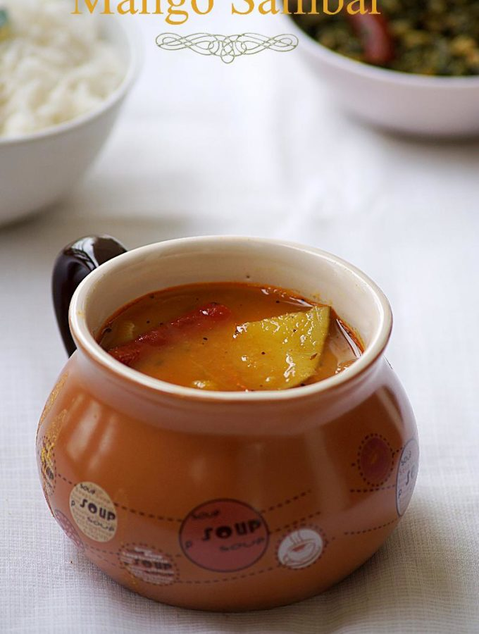 Raw Mango Sambar – South Indian Mango Sambar Recipe
