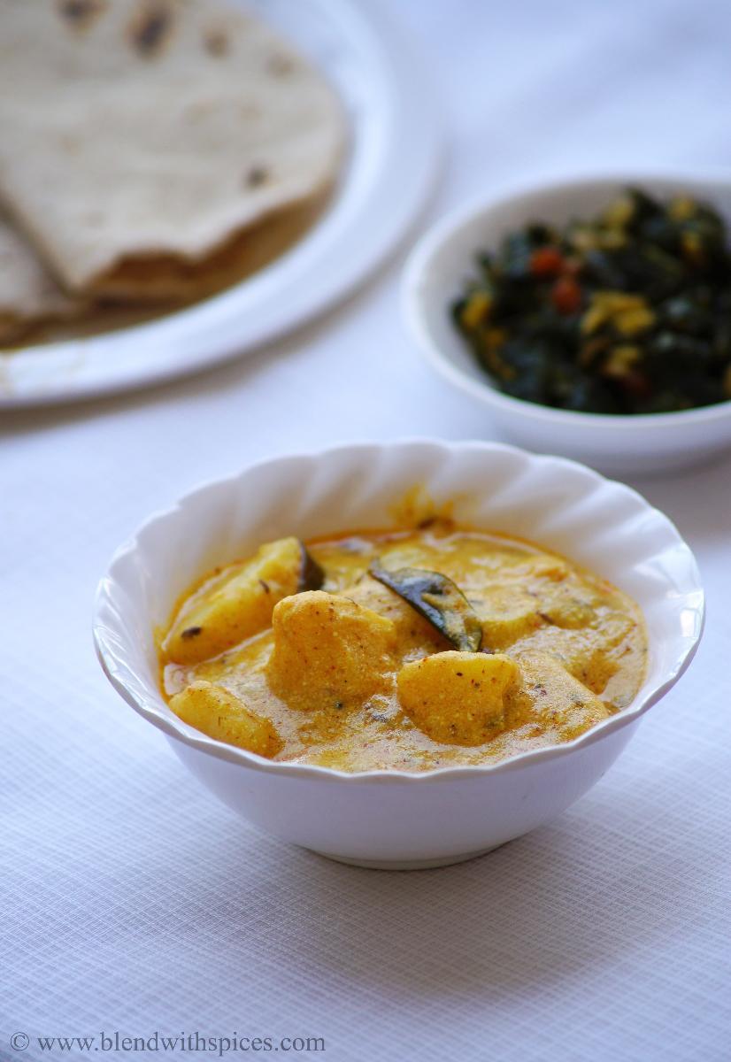 aloo ka rassawala shaak recipe, how to make raswala aloo recipe