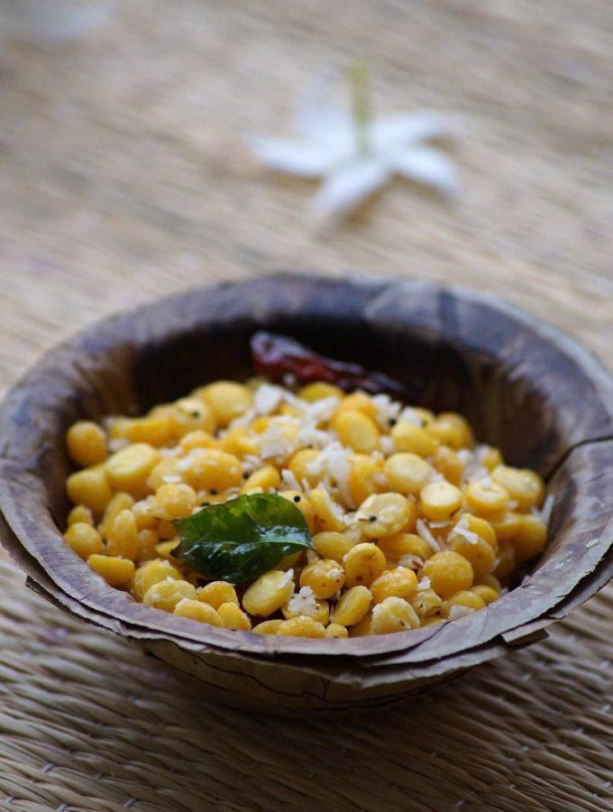 Chana Dal Sundal Recipe – Kadalai Paruppu Sundal Recipe