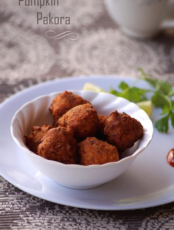 Kaddu Pakora Recipe – How to make Pumpkin Pakora – Pumpkin Fritters Recipe
