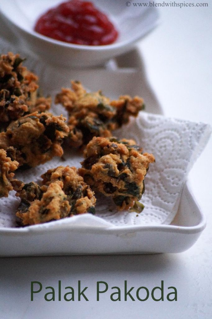 Palakoora Pakoda, how to make palak pakora, palak pakora recipe