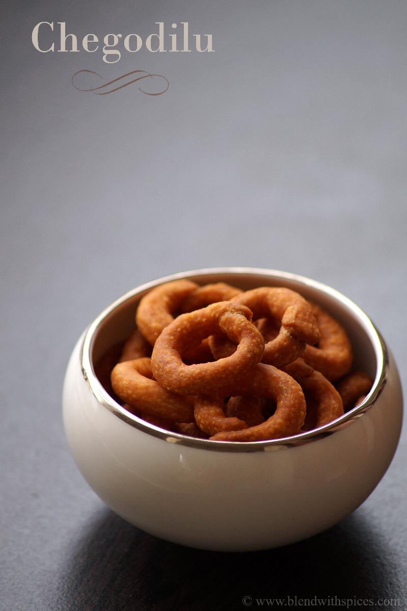 deep fried, golden browned andhra snack served in a small white bowl