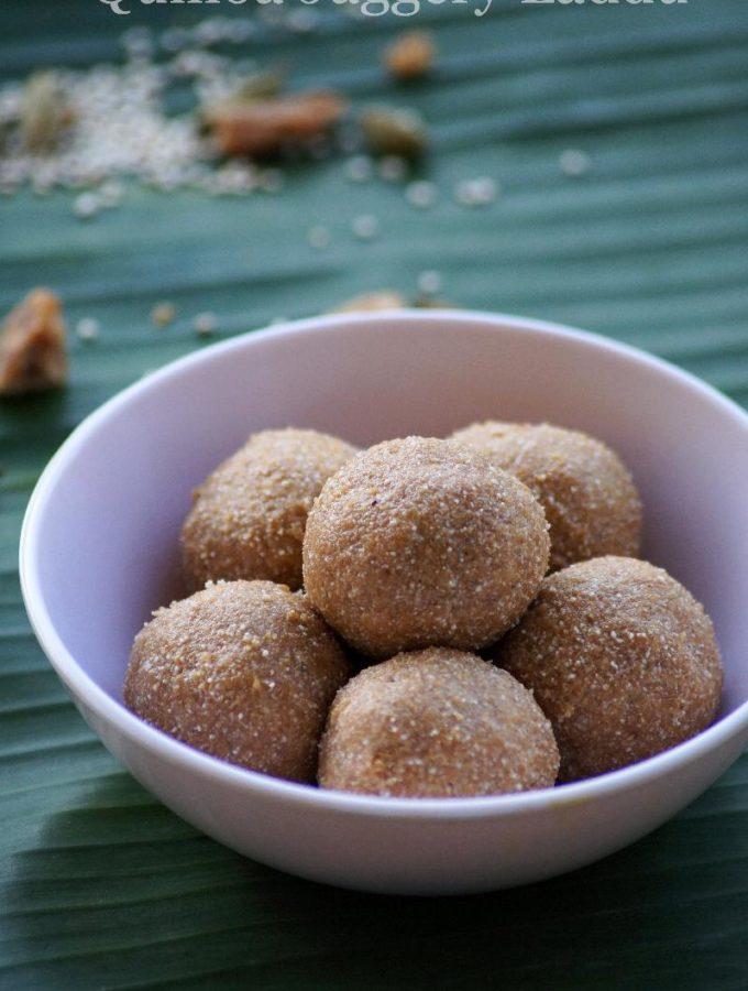 Quinoa Sunnundalu Recipe – Quinoa Jaggery Laddu Recipe – Step by Step Recipe
