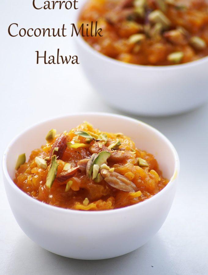 Carrot Coconut Milk Halwa Recipe – How to make Carrot Halwa with Coconut Milk – Holi Recipes