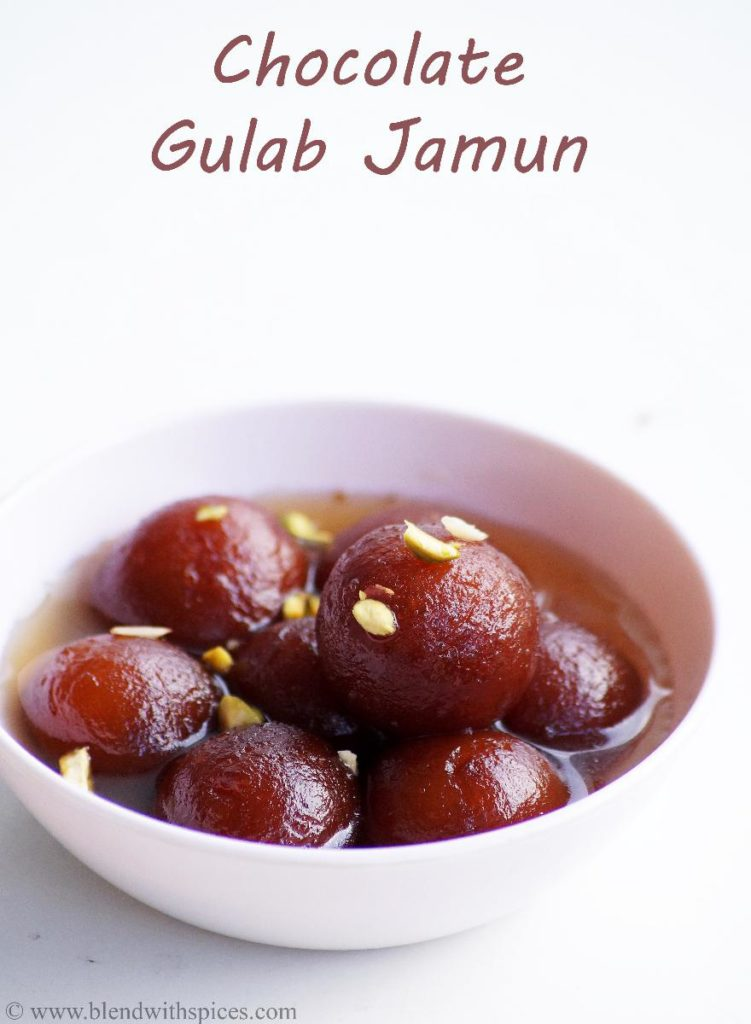 Chocolate stuffed gulab jamun recipe how to make chocolate gulab save forumfinder Gallery