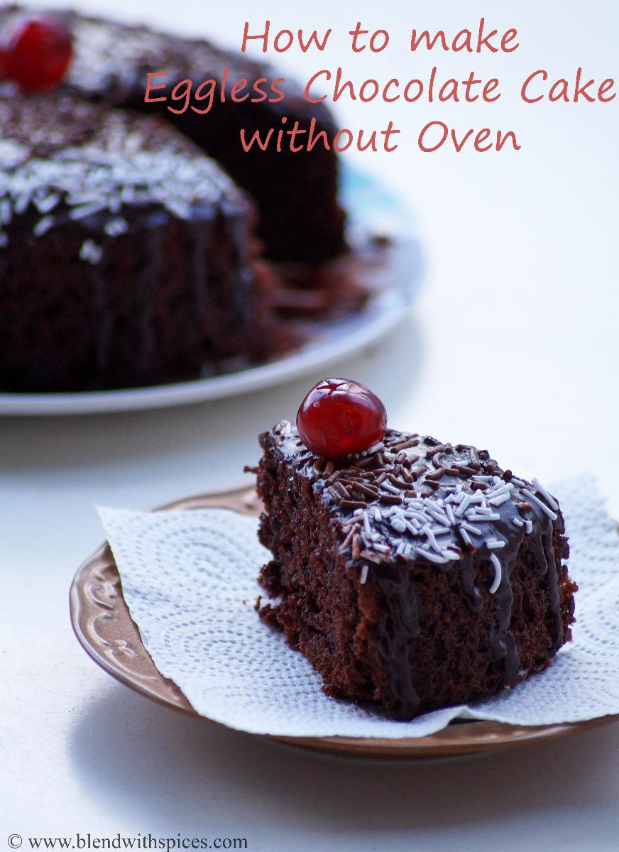Eggless Chocolate Cake With Yogurt