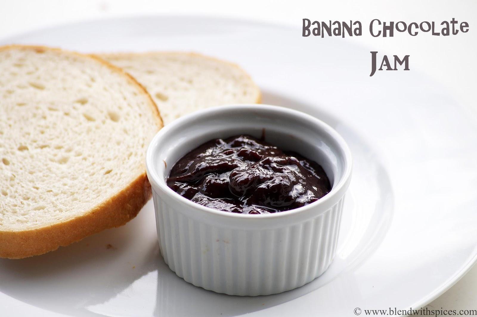 how to make banana chocolate jam recipe