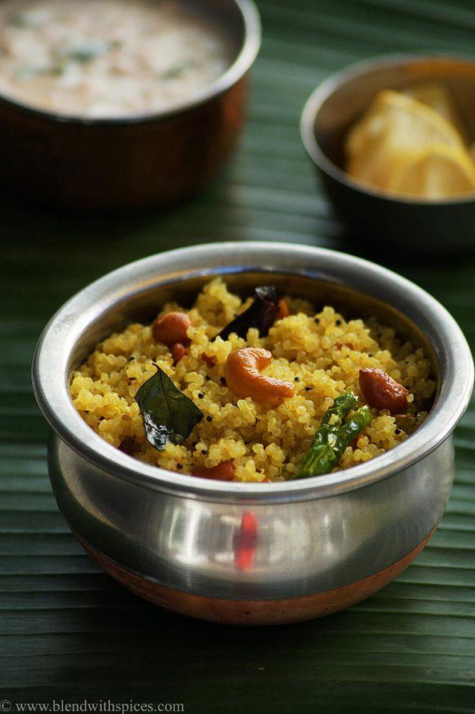 how to make lemon quinoa, quinoa recipes indian, blendwithspices.com