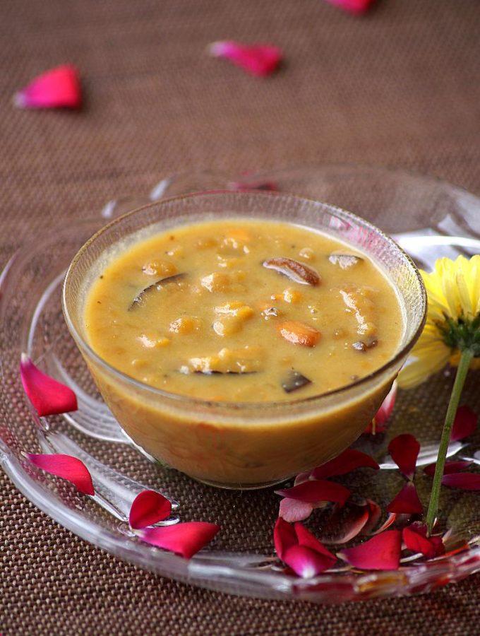 Senaga Pappu Payasam Recipe – Andhra Style Chana Dal Kheer Recipe {Video}