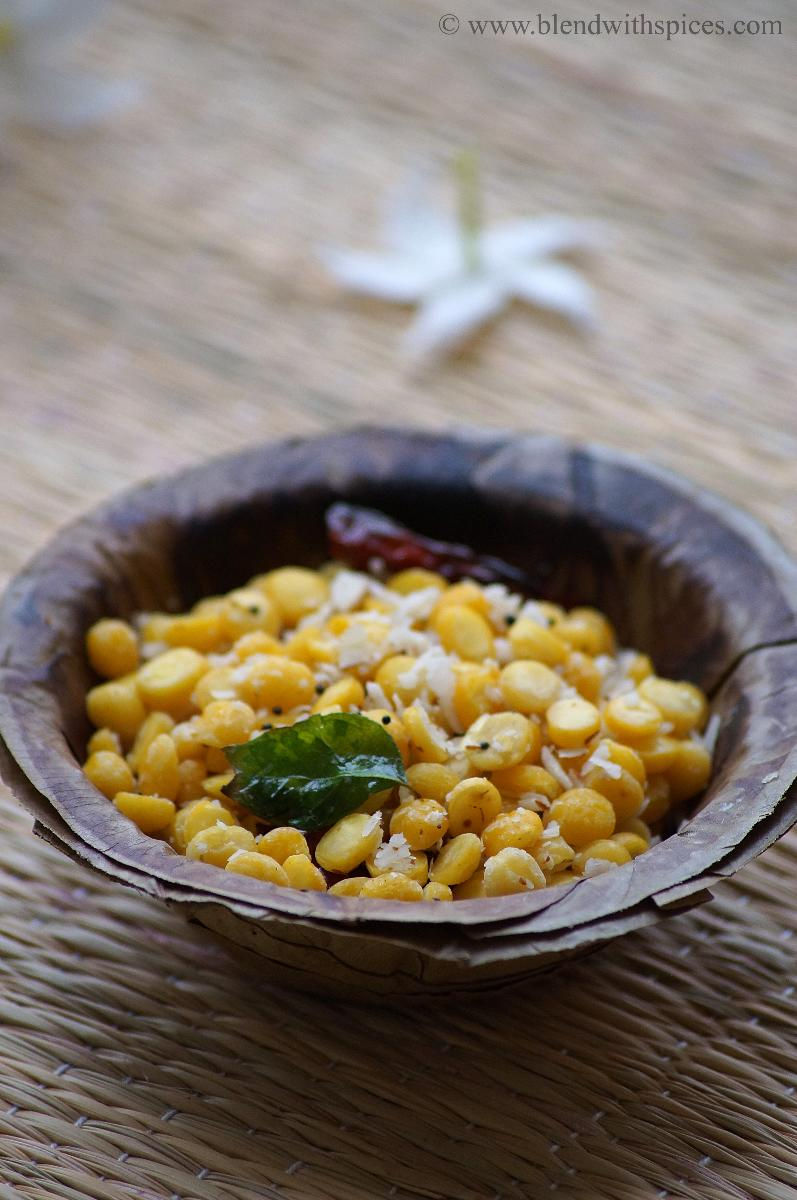 kadalai paruppu sundal recipe, how to make chana dal sundal