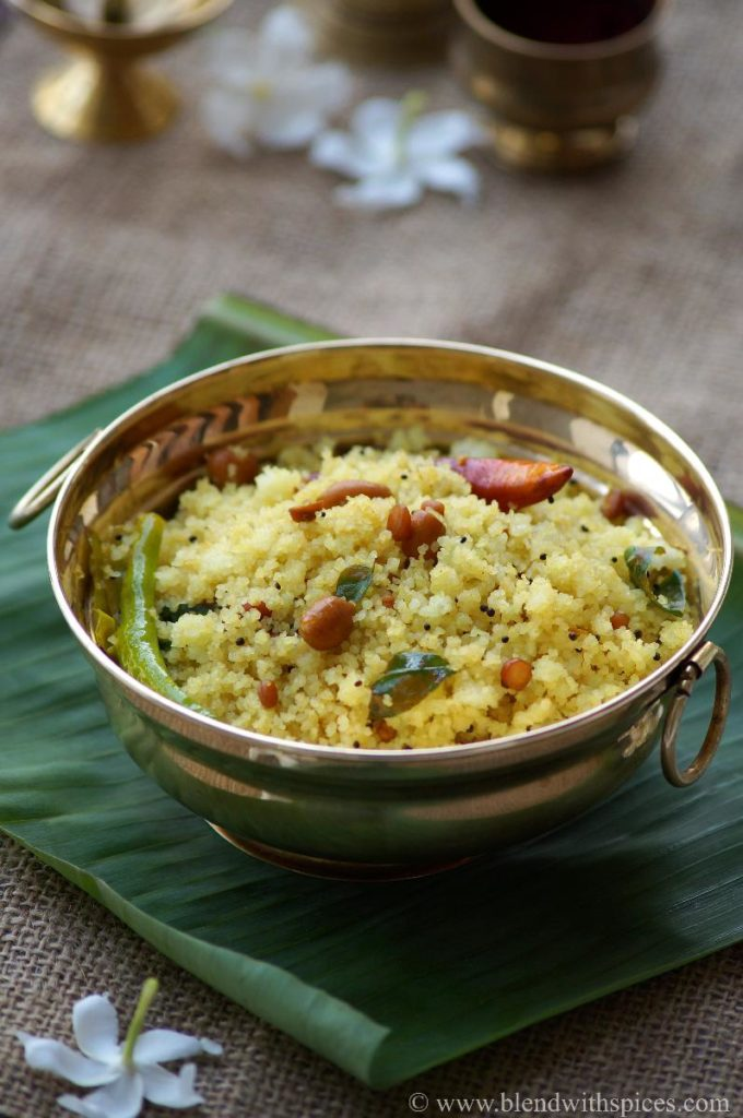 rava pulihora recipe, how to make rice rava pulihora, naivedyam recipes for vinayaka chaturthi, ganesh chaturthi prasadam,
