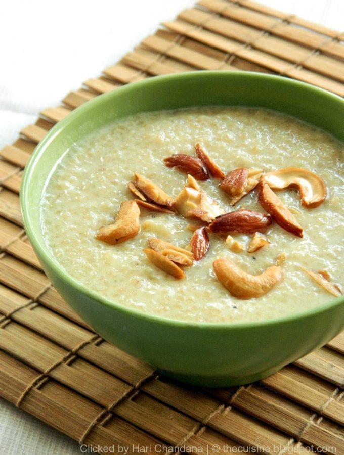 Godhuma Rava Payasam ~ Broken Wheat Kheer Recipe