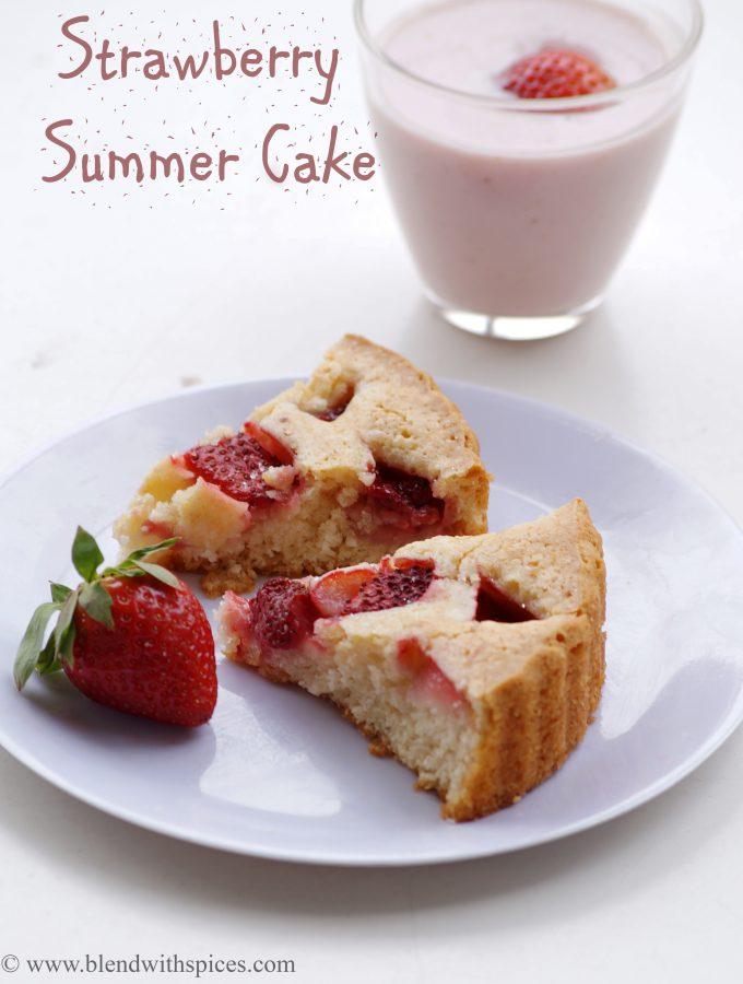 Eggless Strawberry Summer Cake Recipe –  Eggless Strawberry Cakes Recipes