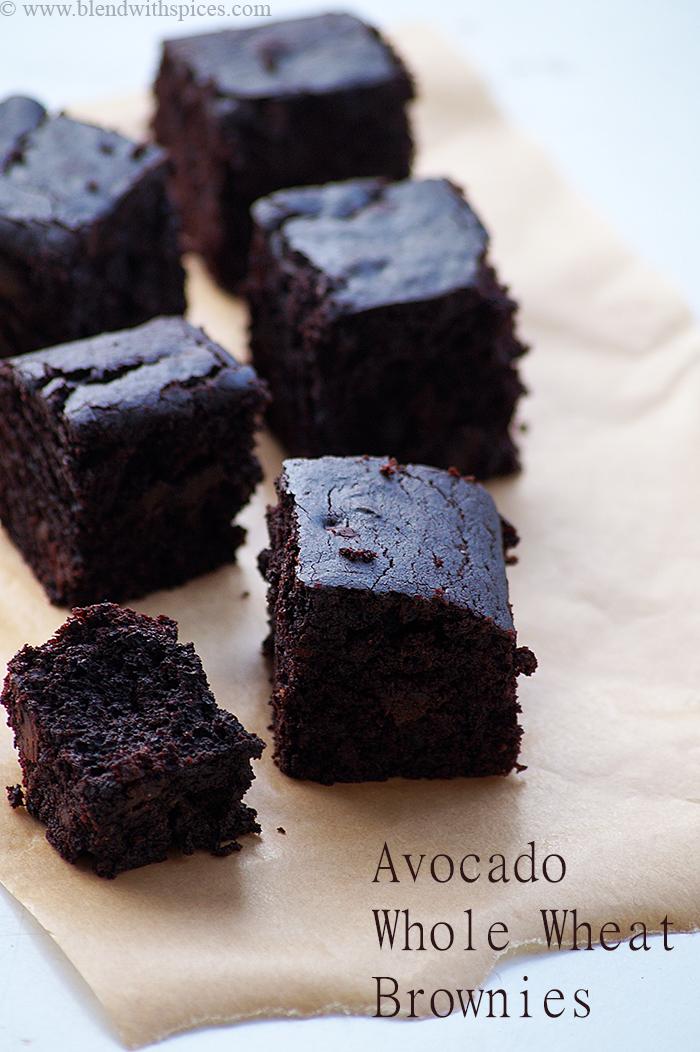 Healthy Vegan Avocado Brownies Recipe Eggless Chocolate