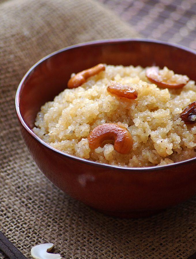 Godhuma Rava Halwa Recipe – How to Make Wheat Rava Kesari – Varalakshmi Vratham Recipes