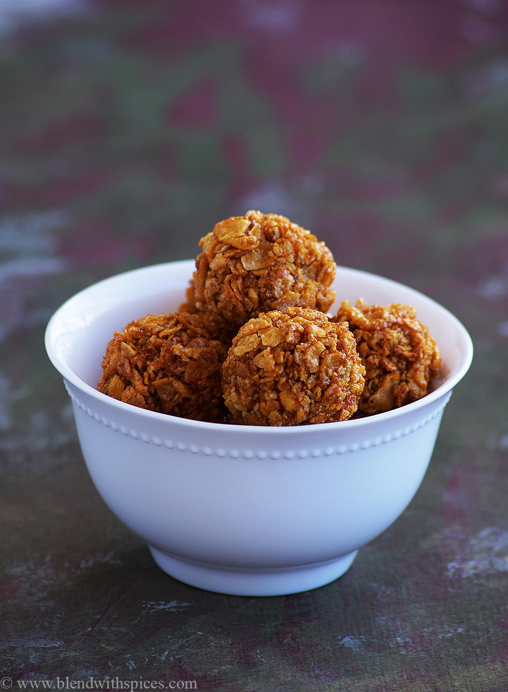 easy corn flakes jaggery ladoo recipe, easy indian laddu recipes