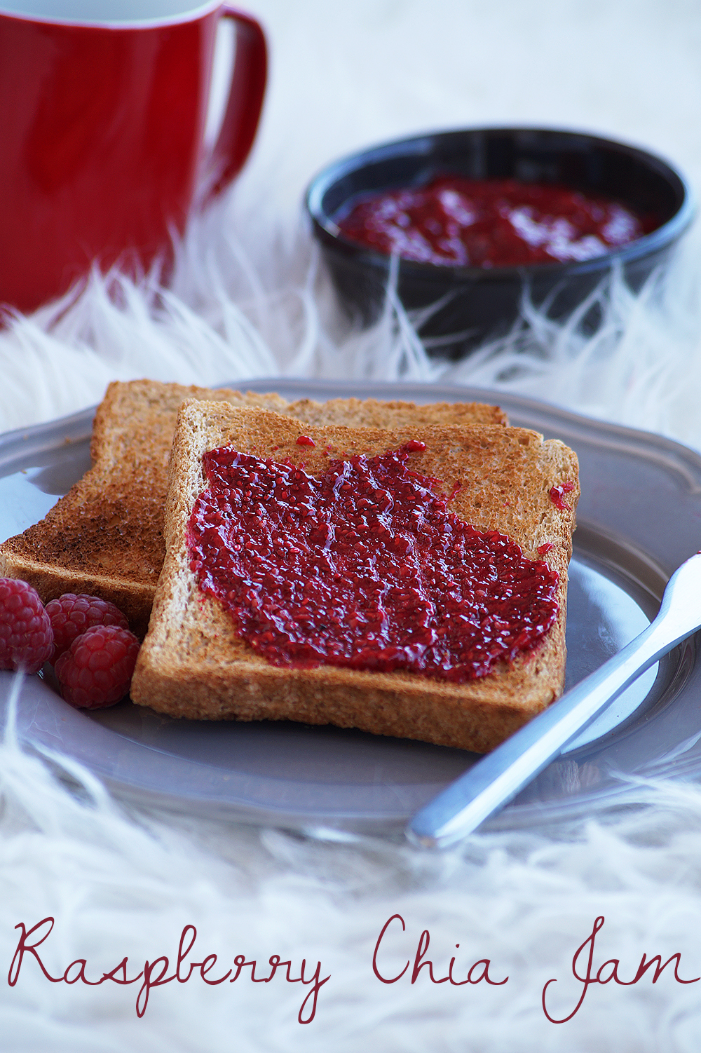 healthy raspberry chia jam recipe, how to prepare raspberry chia jam video