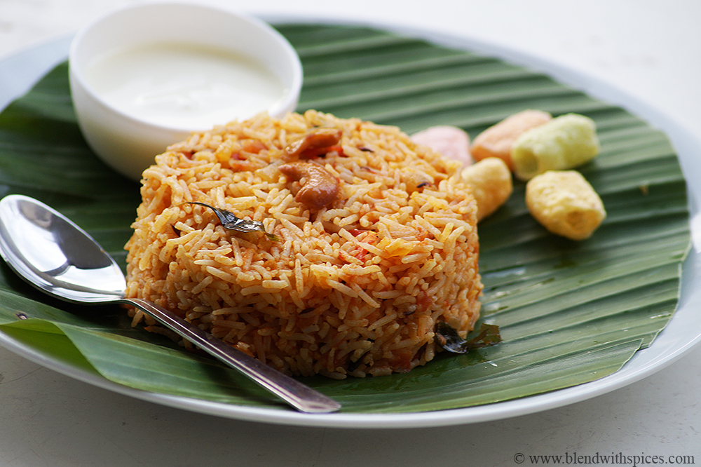 easy thakkali sadam recipe with step by step photos, tomato rice recipe south indian style