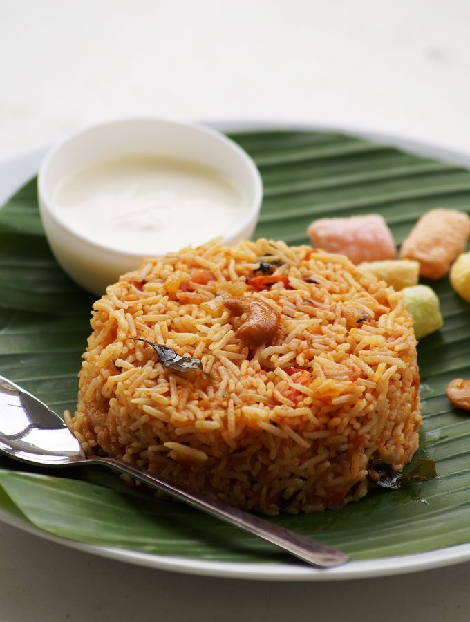 Tomato Rice Recipe – South Indian Style Tomato Rice Recipe – Tomato Recipes